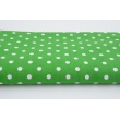 Cotton 100% polka dots 7mm on a light gray background