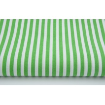 Cotton 100% dark green stripes 5mm