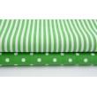 Bawełna ciemno zielone paski 5mm