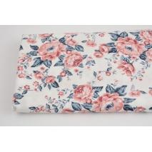 Singiel bawełniany róże na białym tle