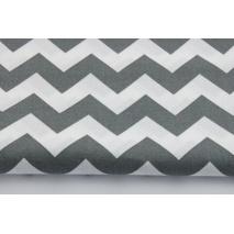 Cotton 100% dark gray chevron zig-zag II quality