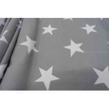 Home Decor, duże gwiazdy na szarym tle 220g/m2 BIEL OPTYCZNA II jakość