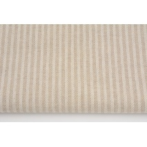 Decorative fabric, dobby stripes on a linen background 235 g/m2