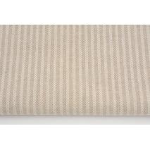 Tkanina dekoracyjna, paski w jodełkę na lnianym tle 235g/m2