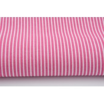 Cotton 100% white stripes 2x1mm on a fuchsia background