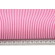 Cotton 100% white stripes 2mm on cornflower background