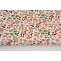 Cotton 100% sage-orange meadow on a white background