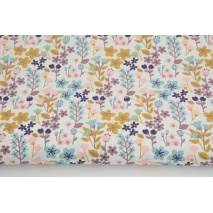 Cotton 100% heather and mustard meadow on a white background