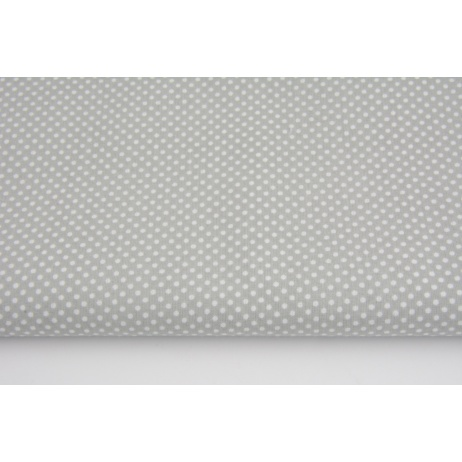 Cotton polka dots 2mm on a light gray background