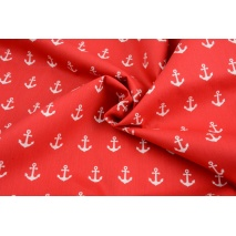 Cotton 100% anchors on a red background, poplin