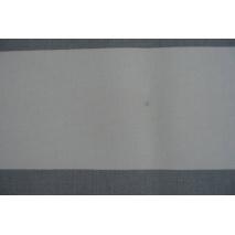 Home Decor, gray stripes 9.5 cm on a white background 220g/m2 OPTICAL WHITE II quality