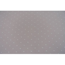 Knitwear, jersey tiny white stars on a dirty heather background II quality