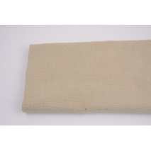 Double gauze 100% cotton golden mini dots on a sand background