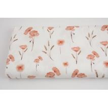 Premium 100% cotton poppies sepia DP