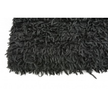 Shaggy black knit