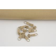 Slider for 3mm spiral zipper, beige