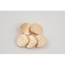 Guzik metalowy 22mm złoty