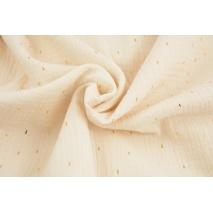 Double gauze 100% cotton golden marks on a vanilla background