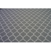 Cotton 100% moroccan trellis on a light gray background II quality
