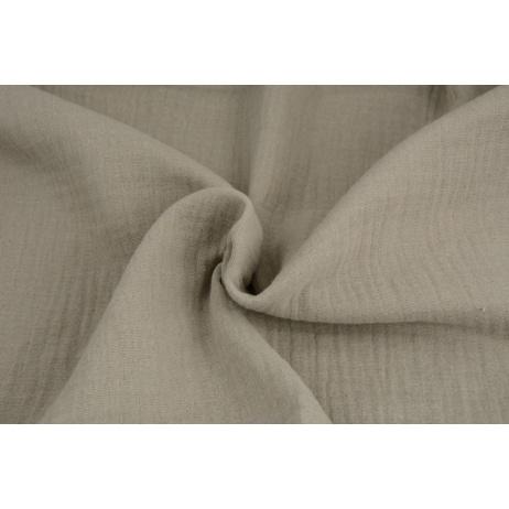 Double gauze 100% cotton plain cold beige