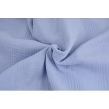 Double gauze 100% cotton plain blue lavender