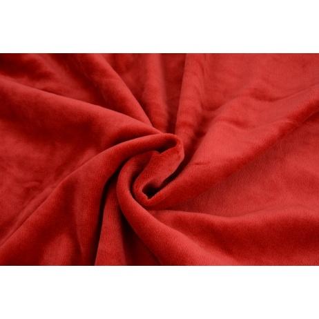 Dzianina welur, czerwony