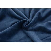 Knitwear velour, navy blue