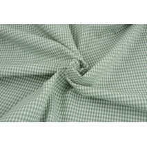 Cotton 100% double-sided, vichy check, eucalyptus, 3mm