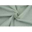 Bawełna 100% kratka vichy, dwustronna, eukaliptus 3mm