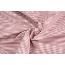 Cotton 100% double-sided old pink vichy check 3mm