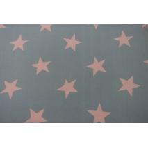 Bawełna 100% duże gwiazdy na turkusowym tle II jakość