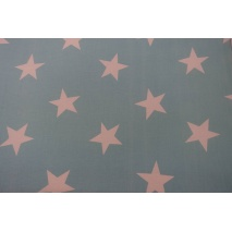 Cotton 100% big stars on a turquoise background II quality