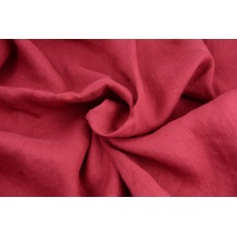 100% plain linen in a cherry color, softened 155g/m2