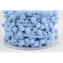 Pom pom ribbon medium baby blue
