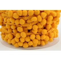 Pom pom ribbon medium mustard
