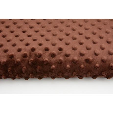 Dimple dot fleece minky brown