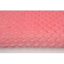 Dimple dot fleece minky strawberry