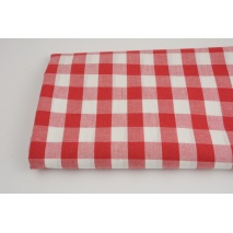 Bawełna 100% czerwona kratka vichy, dwustronna 2cm (2)