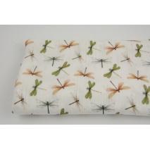 Double gauze 100% cotton, dragonflies, digital print