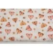 Double gauze 100% cotton, moths, digital print