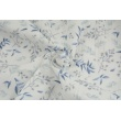 Double gauze 100% cotton, blue and gray twigs , digital print