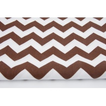 Cotton 100% chocolate brown chevron zigzag