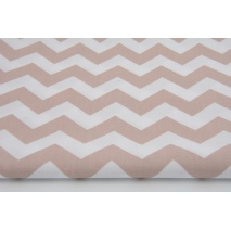 Cotton 100% old pink chevron zigzag