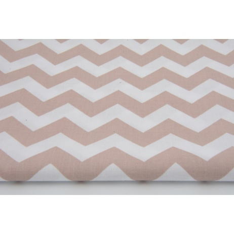 Cotton 100% old pink chevron zigzag