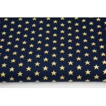 Bawełna 100% złote gwiazdki na granatowym tle, popelina