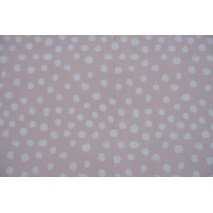 Cotton 100% white patches on a powder pink background II quality