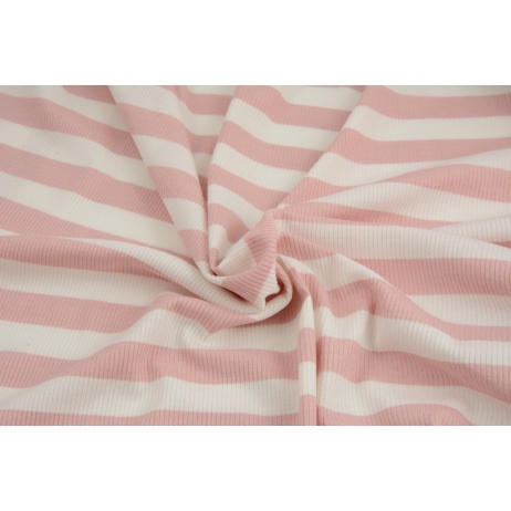 Rib knit fabric dusty pink stripes 17mm/17mm