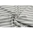 Rib knit fabric, gray melange 4mm/18mm