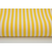 Cotton 100% yellow stripes 5mm