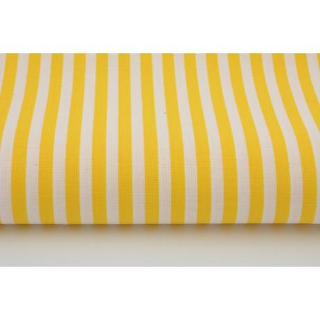 Bawełna 100% zółte paski 5mm